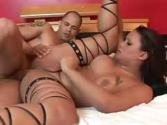 Exotic Homemade Shemale video with Guy Fucks Shemale, Big Tits scenes