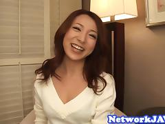 Cocksucking asian milf gets facialized