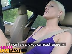 Female Fake Taxi Big tits blonde cabbie milf fucks customer
