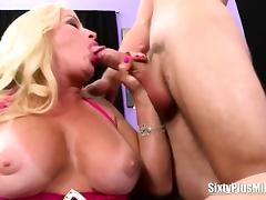 Hot sixty plus MILF action
