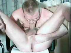 HARRI LEHTINEN SUCKING HIS COCK AND EATING EVERY DROP OF HIS SWEET CUM!