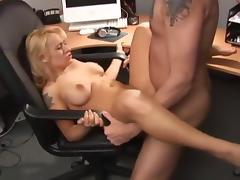 Hottest pornstar Rebecca Steel in horny blonde, office porn video