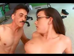 busty jennifer fucked by old man