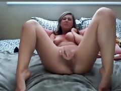 Girl fucks her self with toys