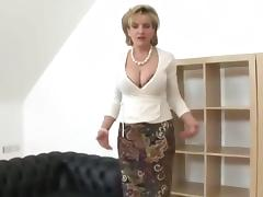 British MILF Sucks A Dildo