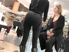 Even girls love her bubbly round ass