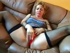 Crazy Homemade movie with Blonde, Masturbation scenes