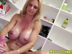 Double, Big Tits, Double, Handjob, Mature, Stepmom