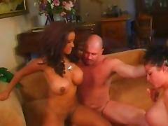 Fabulous pornstars Bella-Maria Wolf and Victoria Styles in crazy brunette, threesomes sex clip
