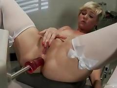 Teen Chloe Camilla fucked by machines in both holes