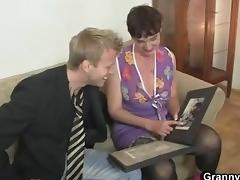 Sex with slutty old granny