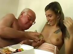 Horny Homemade video with Stockings, Young/Old scenes