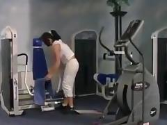 Sexy chrissi fuck in the gym