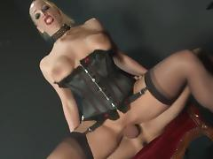 Hottest pornstar Rebecca More in crazy facial, fishnet sex scene