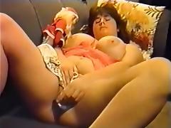 Crazy Amateur clip with Big Tits, Solo scenes