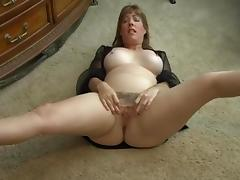 Crazy Amateur video with Mature, Solo scenes