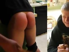 Hot college girl with fantastic ass spanked
