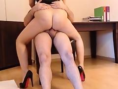 creampie in office