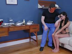 Eden Sin fucked down her throat by a nasty master with a mask