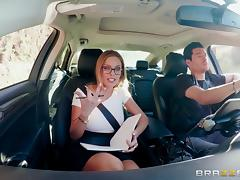 Britney Amber is excited about a couple of huge dongs