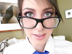 Luna C. Kitsuen is a geeky babe who wants to choke on a dick