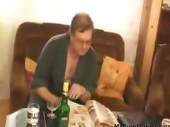 Blonde Slut Pleasures Plumper Man With Glasses mature mature porn granny old cumshots cumshot