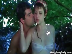 Amateur gang bang daily action part3