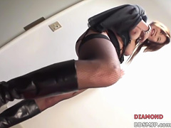 Pegging femdom strap on domination spanking
