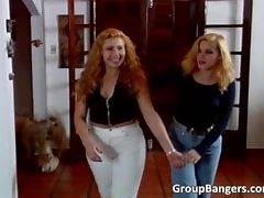 Sexy blonde Latina babes are shameless