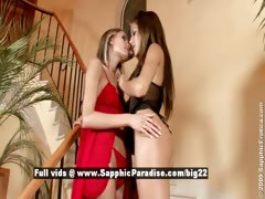 Anitta and Dominika lesbo teen girls kissing