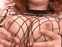 Red haired slut got fucked by two