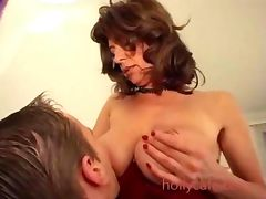 Super hairy box on milf in great lingerie porn video