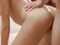 Luxury sex with sleek babe on a chair