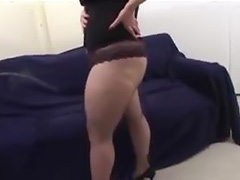 Fat blonde chick fucked by two guys