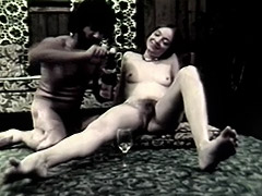 Blowjob and Anal Sex with Champagne 1960 porn video