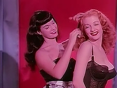 Bettie Page and Tempest Storm 1950 porn video