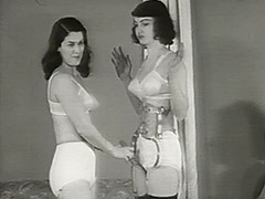 Beautiful Girls in Underwear in Strange Action 1950 porn video