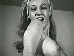 Marvelous Blonde and Her Sexy Body 1960 porn video