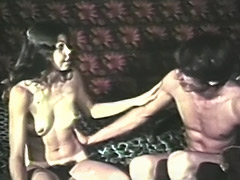 Horny Couple Enjoys 69 and Dildo Fuck 1970 porn video