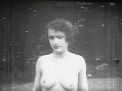 Silly Teenager Walking Through the Forest 1910 porn video