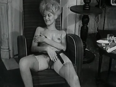 Delightful Woman Poses and Masturbates 1950