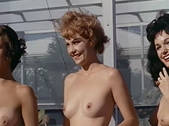 Nude Chicks Relax at a Nudist Resort 1960