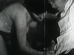 Smoking Couple gets Naughty with Ropes 1950 porn video