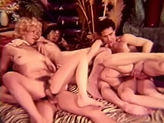 Peeping Guy Joins Hot Group Sex Orgy 1960 porn video