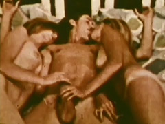 Threesome with Lots of Blowjobs 1960 porn video
