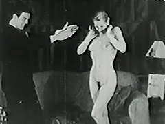 Magician Magically Makes Her Clothes Disappear 1940 porn video