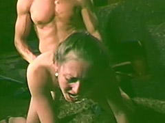 Hairy Waitress Sex Servicing two Guys 1970