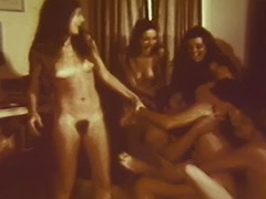 Groupie Girls Make Men Fuck Them Hard 1960 porn video