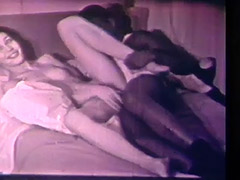 Interracial Couple Has Sex with No Borders 1960 porn video