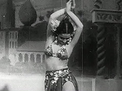 Petite Girl Having Fun on the Stage 1940